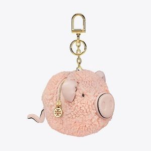 Peggy the Pig Pom-Pom Key Ring Coin Pouch NWT
